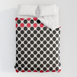 BLACK&RED POLKA DOTS Comforters
