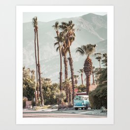 EASY RIDER | Vintage van in Palm Springs, California Art Print