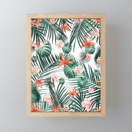 Tropical Flowers & Leaves Paradise #2 #tropical #decor #art #society6 Framed Mini Art Print