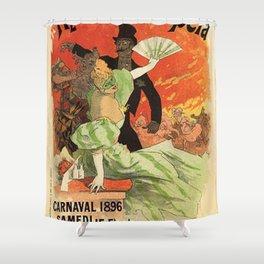 Th Tre De L Op Ra Carnaval 1896 Grand Veglione De Gala 1896 By Jules Cheret | Reproduction Art Nouve Shower Curtain