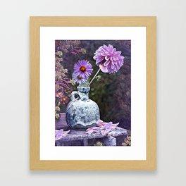 In a Purple Garden Framed Art Print