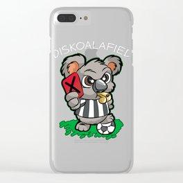 DISKOALAFIED Koala Referee Red Card Soccer Gift Clear iPhone Case