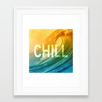 chill Framed Art Prints featuring Chill by SURFskate