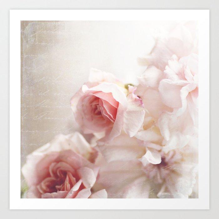 Pink pastel roses art print by sylviacookphotography society6 pink pastel roses art print mightylinksfo