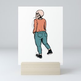 smoking skull 005 Mini Art Print