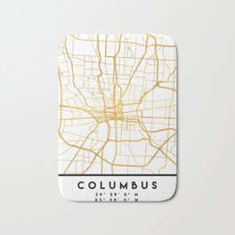 COLUMBUS OHIO CITY STREET MAP ART Bath Mat