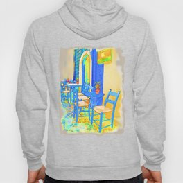 Greek Coffee Place Gold and Blue Hoody