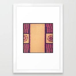 Floral Frame Framed Art Print