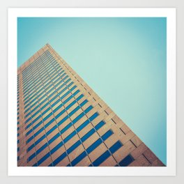 Diagonal Architecture Abstract Art Print