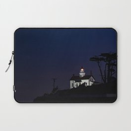 Battery Point Lighthouse in the night's blue cloak. Crescent City, California Laptop Sleeve