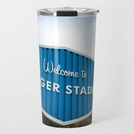 Welcome to Dodger Stadium   Los Angeles California Nostalgic Iconic Sign Art Print Tapestry Travel Mug