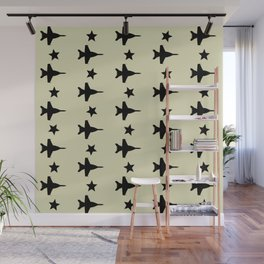 F-18 Hornet Fighter Jet Pattern Wall Mural