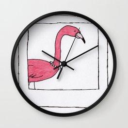 Polaroid Flamingo Print Wall Clock