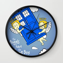 The Angels have the Phone Box (Version 2) Wall Clock