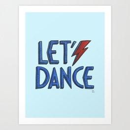 Let´s Dance light blue Art Print