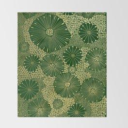 gold dandilion burst Throw Blanket