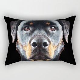 Rottie Love - Rottweiler Art By Sharon Cummings Rectangular Pillow
