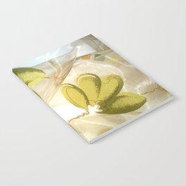 textile / flower / green  Notebook
