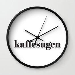 Kaffesugen Wall Clock