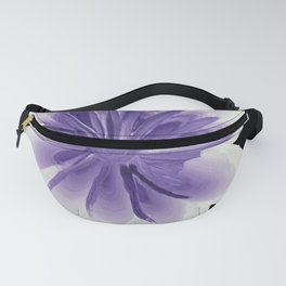 Large Flower Filigree Scroll Floral Art Acrylic Painting Purple Flower Fanny Pack