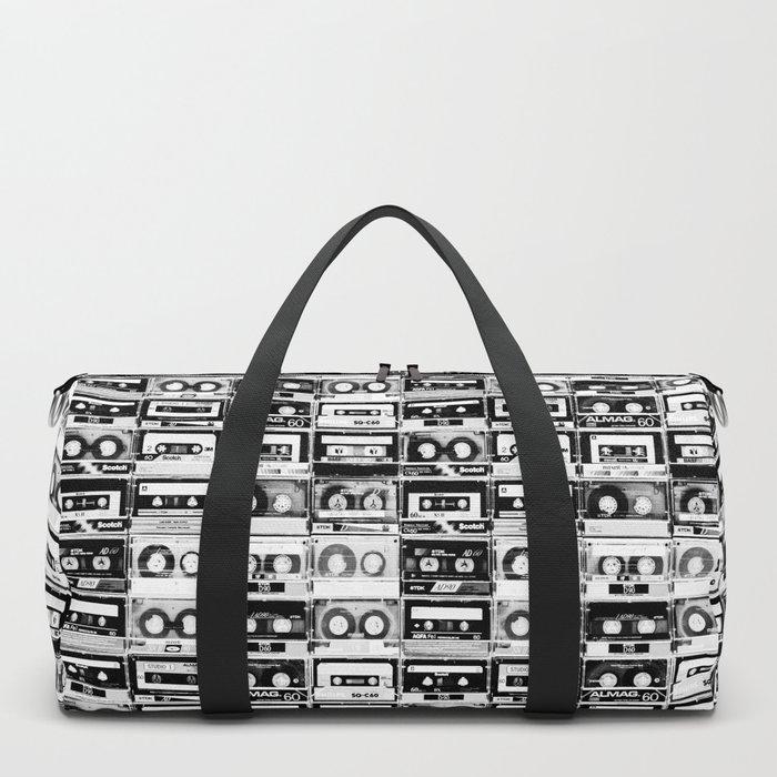 Something Nostalgic - black and white #decor #buyart #society6 Duffle Bag