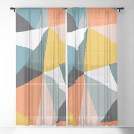 Modern Geometric 36 Sheer Curtain