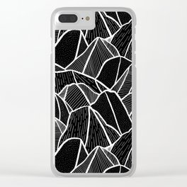 On The Rocks Clear iPhone Case