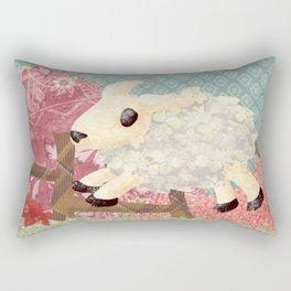 Jumping lamb Rectangular Pillow