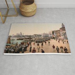 1890s Riva degli Schiavoni, Venice, Italy photo Rug