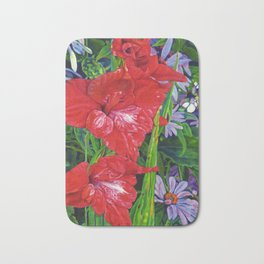 Gladiola's and Echinacea Bath Mat