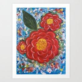 Flores Rojas Art Print