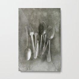 Flea market cutlery Metal Print