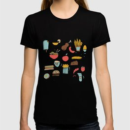 Food Frenzy pink T-shirt