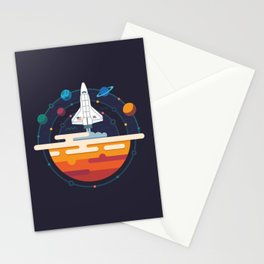 Space Shuttle & Solar System Stationery Cards