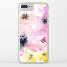 Blooming bouquet #3 || watercolor Clear iPhone Case