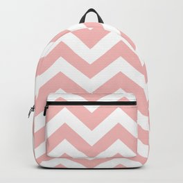 Spanish pink - pink color - Zigzag Chevron Pattern Backpack