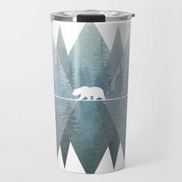 Misty Forest Mountain Bear Travel Mug