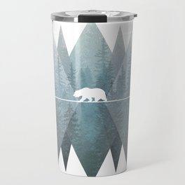 Misty Forest Mountain Bear Travel Mug