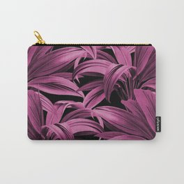 Cordyline Princess Margaret Watercolor Hot Pink Pattern Carry-All Pouch