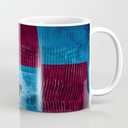 Blue pink square Coffee Mug