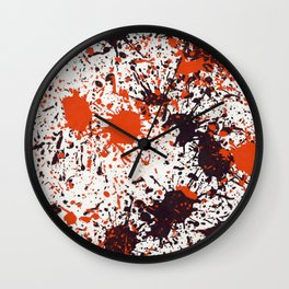 Action Painting No 123 By Chad Paschke Wall Clock