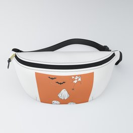 Halloween Themed Orange Design — Halloween Illustration Fanny Pack