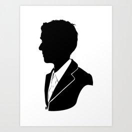12th Doctor - Standard Silhouette Art Print