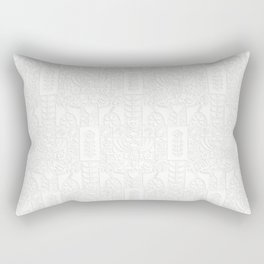 Swedish Folk Art - Subtle Rectangular Pillow