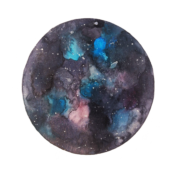 Galaxy round shape with stars Comforters