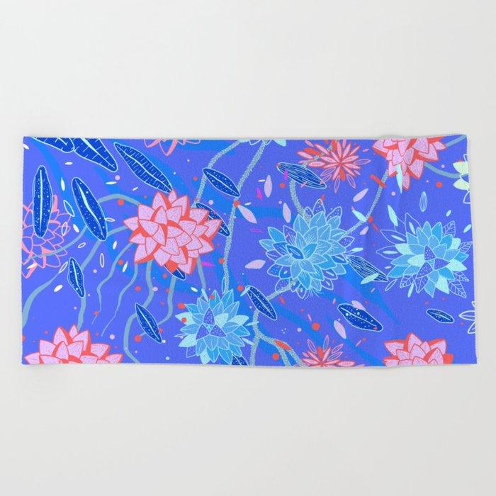 Heroinax Freaky Flowers Beach Towel