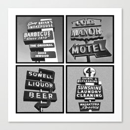 Vintage Signs Series #3 Canvas Print