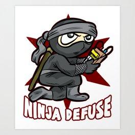 NINJA DEFUSE Pro Gamer Gaming Bomb CS Go Terrorist Art Print