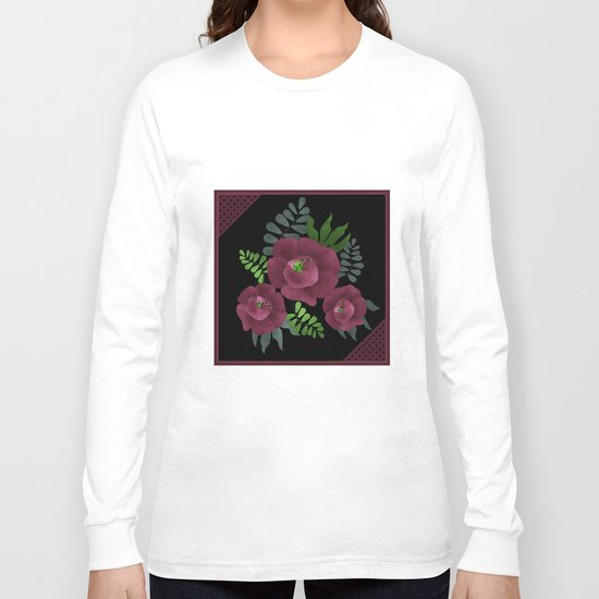 Burgundy roses. Long Sleeve T-shirt