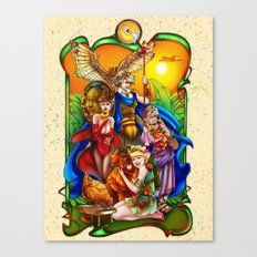 The Golden Goddesses  Canvas Print